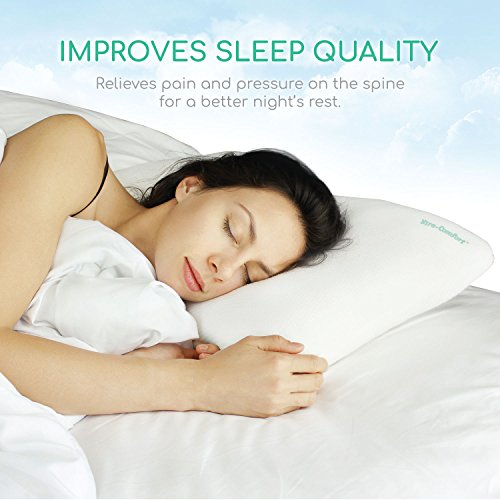 xtracomfort cervical pillow this combination sleeper is ideal for back and side