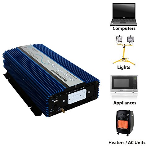 AIMS 2000 Watt Pure Sine Power Inverter