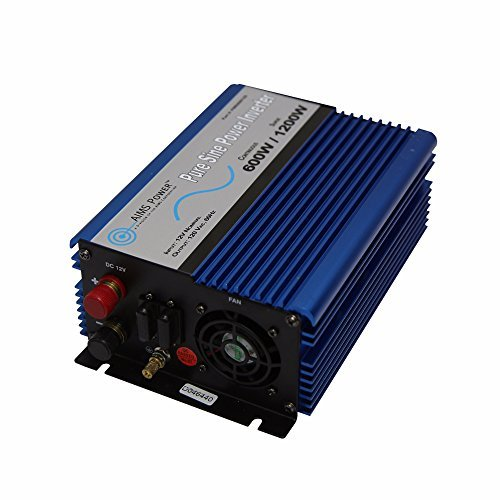 AIMS Power 600 Watt 12 VDC Pure Sine Car Power Inverter