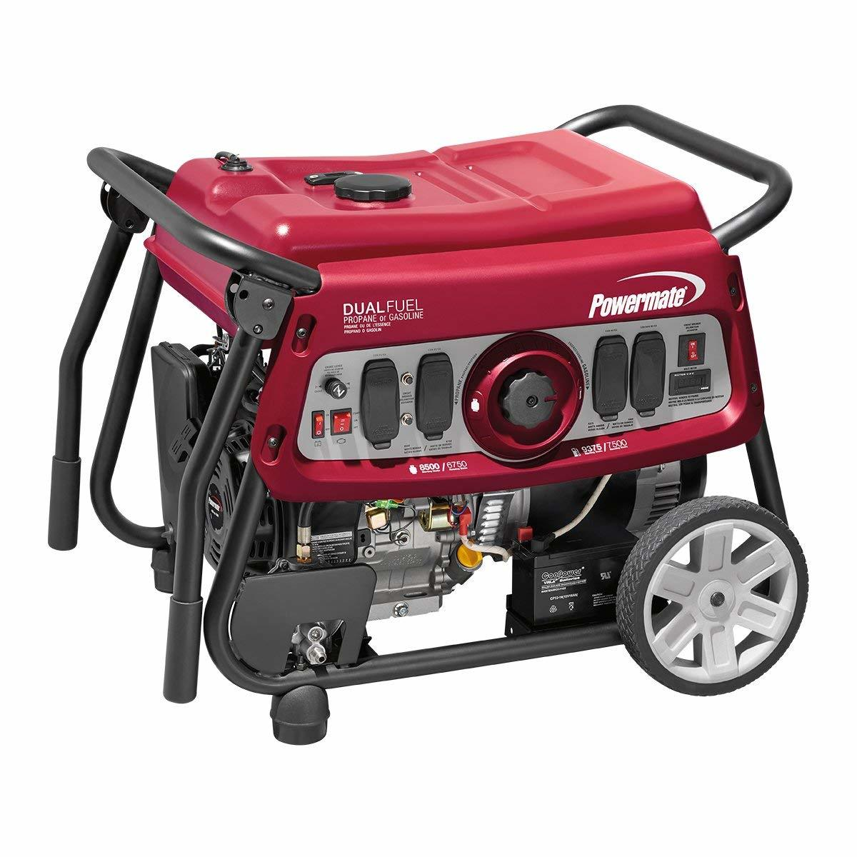 Powermate 6958 DF7500E 7500 Watt DUAL FUEL Portable Generator