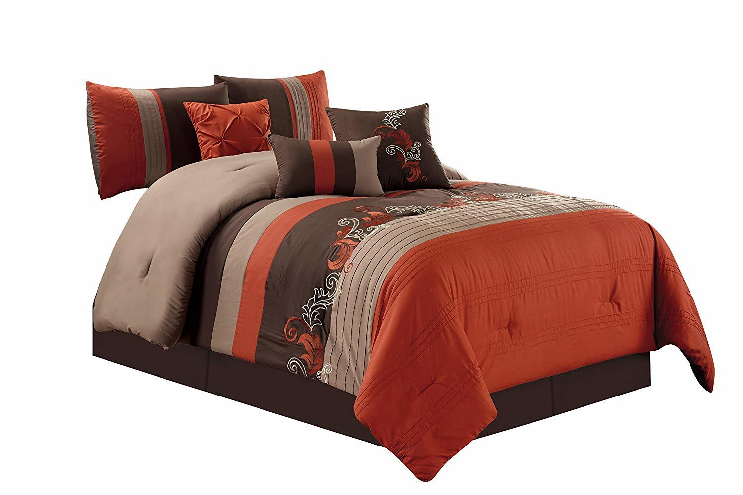 Chezmoi Collection 7 Piece Comforter Set