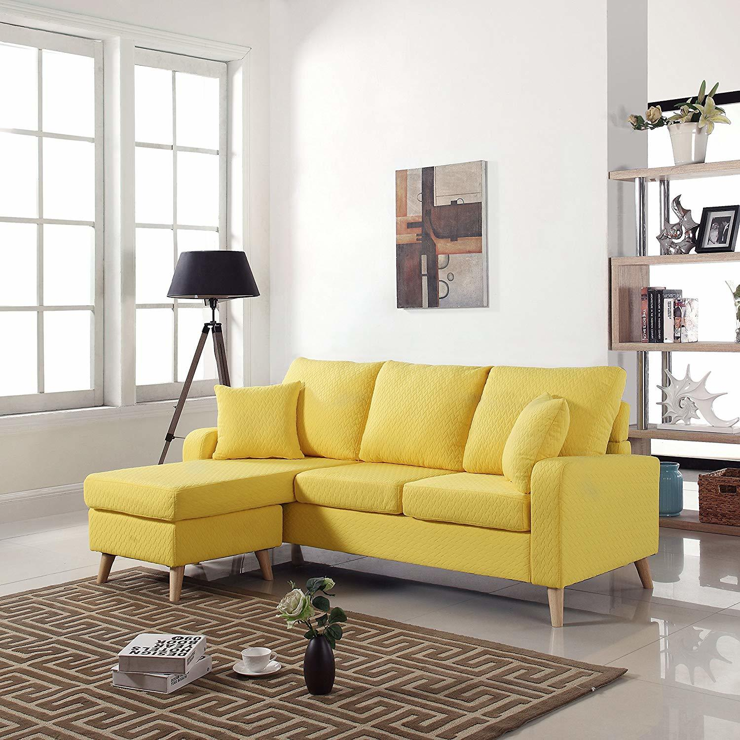Fabric Small Space Sectional Sofa