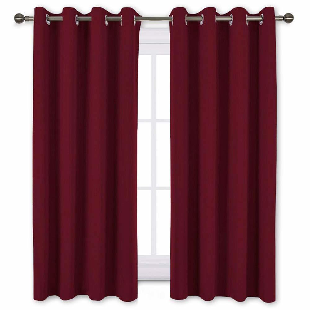 NICETOWN Burgundy Blackout Draperies Curtains